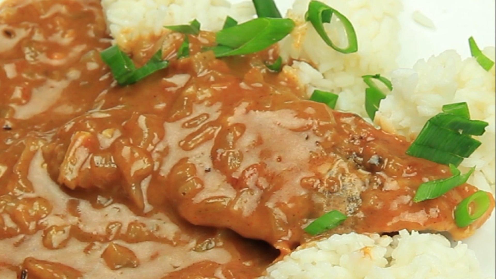 Vepřové plátky na kmíně s rýži