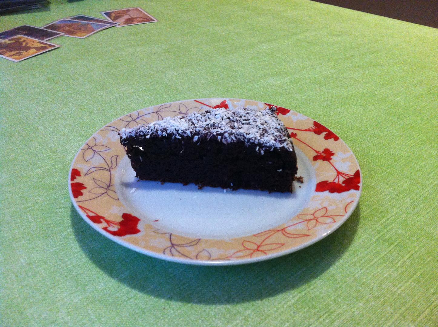 Vláčný čokoládový dort z fazolí