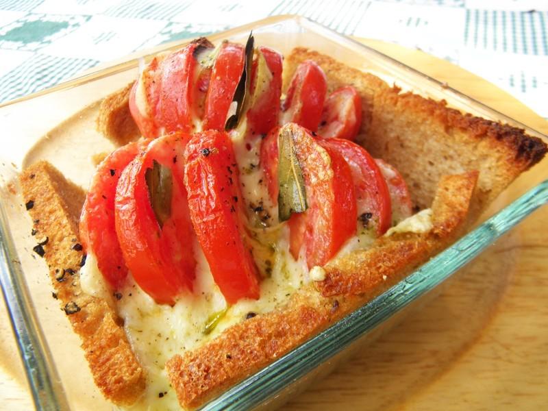 Zapečená plněná rajčata s mozzarellou