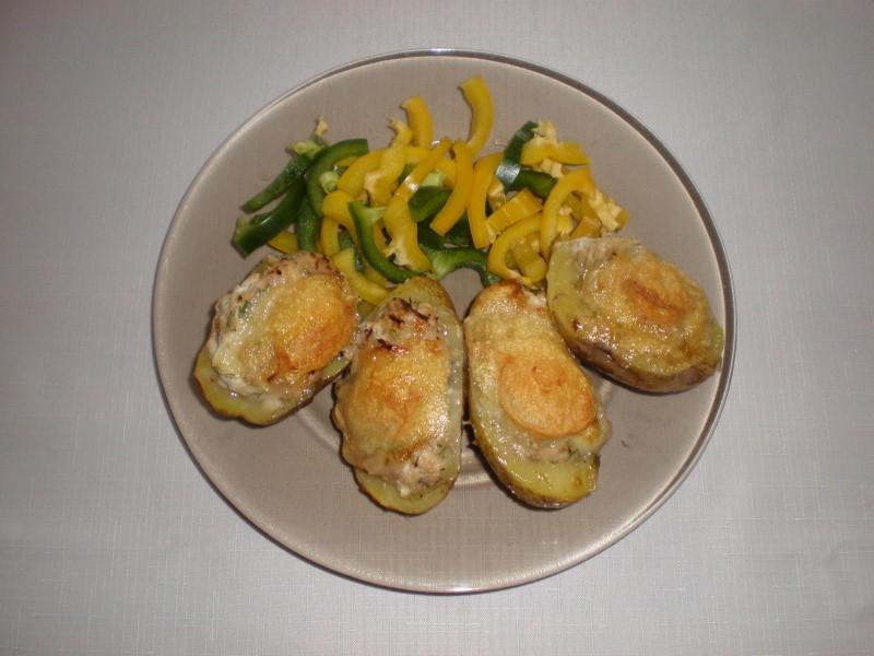 Zapečené brambory s tvarůžky