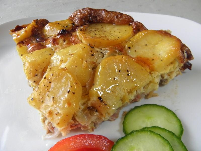 Zapečené česnekové brambory