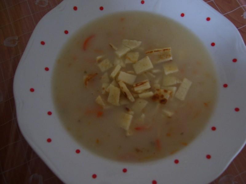 Zapražená polévka se svítkem